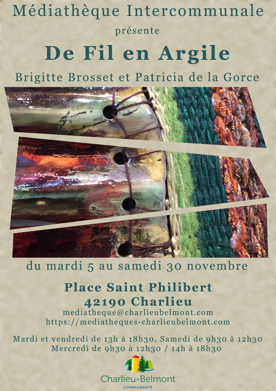 Affiche expo médiathèque de Charlieu Novembre 2019